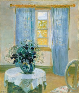 Anna Ancher -Interior with clematis(1913) Skagens Museum.