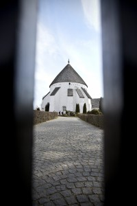 Characteristic round churchs are only found on Bornholm - here Østerlars Kirke.