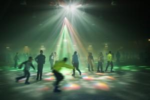 Ice disco fun at Aarhus Skøjtehal. Picture. Aarhus Skøjtehal