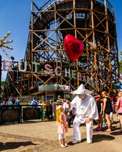 The funny character of Pjerrot (Pierrot in French) is a great attraction for children. Picture:PR