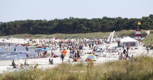Balka Strand is popular because of its white ultra thin sandy beach.